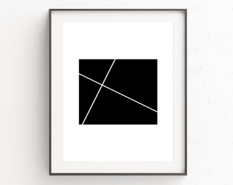 Poster 24x36, Modernist Wall Art, Cafe Wall Art, Modern Wall Art, 24x36 Print, Minimalistic Gifts, Kitchen Decor, Gifts for Him, Affiche