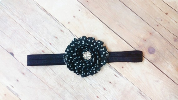 Black Baby Headband, Infant Girls Headbands, Headbands For Newborns, Polka Dot Headband, Headband For Babies, Toddler Hair Accesories, Bows