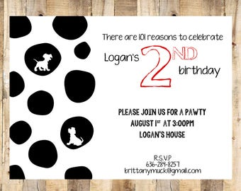 101 Dalmatian Invitation, Customized Envelope Template, Envelope Seal, Digital Files