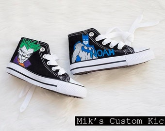 Batman and Joker Custom Kids Shoe