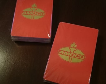 Two Packs of Amoco Promotional Playing Cards/ Unopened/ Petroliana/ Vintage Playing Cards