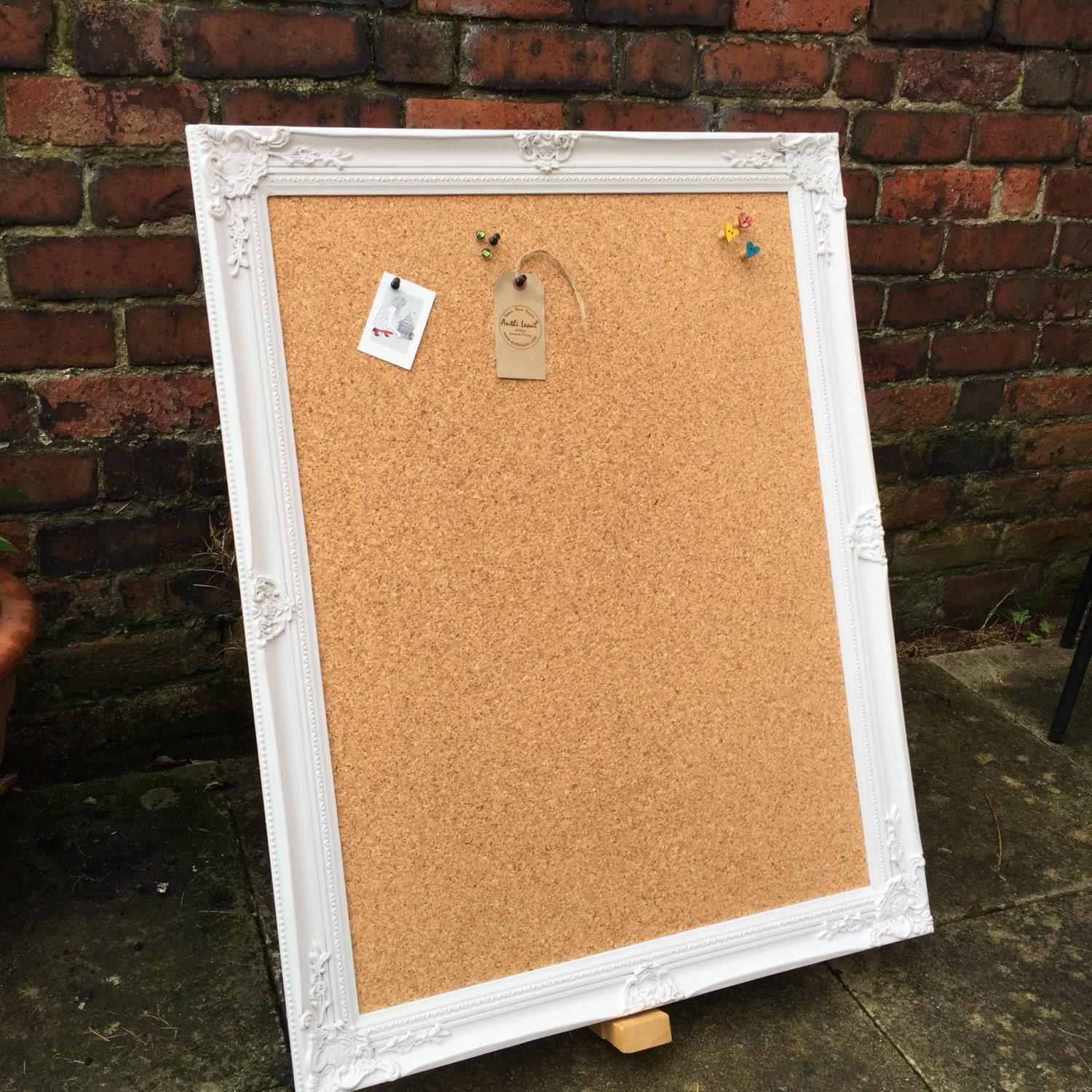 large framed corkboard extra large pin board ornate cork board shabby chic notice board large vision board framed message board