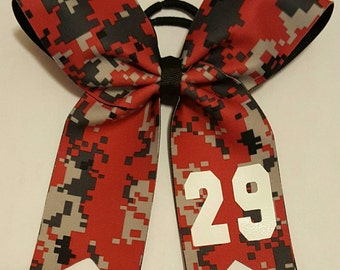 Digital Camo Bows with Number