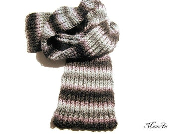 Knitted scarf, Fashion scarf, Unisex scarves, Handmade scarf, Winter accessories, Sciarpa Unisex