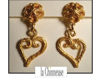 Y S L EARRINGS / Yves Saint LAURENT earrings / Clips YSL / french Vintage Jewel Yves St Laurent.