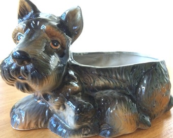 Vintage Scottie and Pup Planter