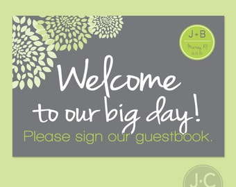 """Welcome Sign - Sign Our Guestbook - 4x6"""""""