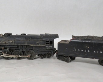 Lionel 2035 Steam Locomotive, Black, w/tender 6466WX, 1950-51