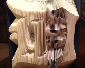 Detroit Tigers book folding pattern - Detroit Tigers logo - Instant Download folded book pattern. Full instructions. Very easy