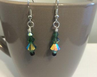 Dangle Christmas Tree Earrings