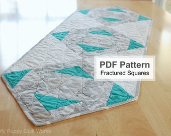 Modern Table Runner Pattern, Easy Fast Quilting Project, Quick Modern Quilt Instructions, PDF Sewing Pattern, Beginner Quilt Pattern