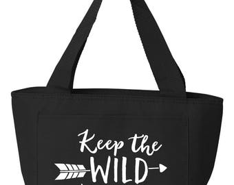 Recycled Cooler Bag Lunch Bag Lunch Tote Insulated Lunch Tote Keep the wild in You