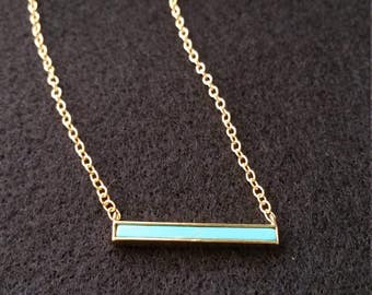 Gold filled chain necklace, turquoise necklace,gold and turquoise necklace, turquoise pendant necklace, gold vermeil necklaces