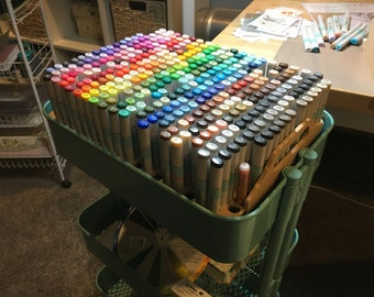 NEW*** Copic Marker storage for IKEA Raskog cart (IKEA cart not included)