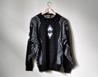 Space Knit Black Sweater