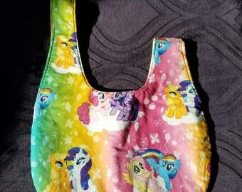 My Little Pony wristlet/Japanese knot bag