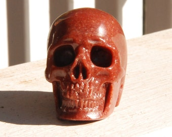 Miniature Carved Red Skull