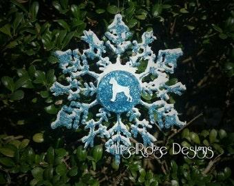 Boxer Snowflake ornament