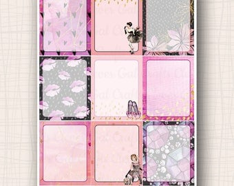 Full Box Planner Stickers | Haute to Trot Jot Boxes | 9 Stickers Total | #SP1908