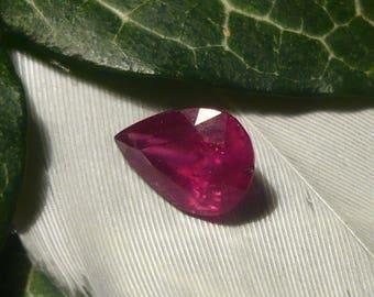 Ruby, 1.4ct Pear Cut