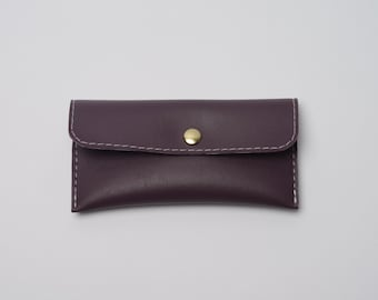 Purple Vinyl Coin Purse