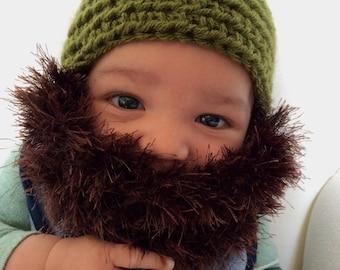 Boy Beanie Hat w/Beard