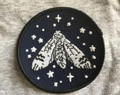 GLOW iN THE DARK Moth Patch