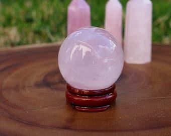 Rose Quartz Crystal Healing ball Reiki crystals healing crystals rose quartz heart chakra chakras quartz crystals tumbled stones pink stones