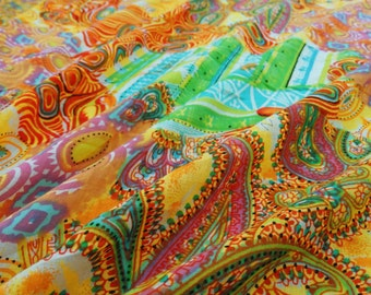 Dressmaking Fabric Cotton Fabric For Sewing Designer Multicolor 100%cotton sewing fabric foliage printing for dressmaking by 1 yard ZBC6660