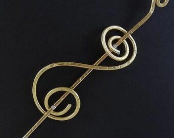 Handmade Wirework Shawl Pin