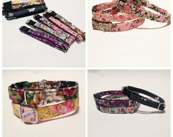 Cat collars and small dog - Floral Selection