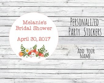 Personalized Thank You Bridal Shower Stickers, Favor Tags, Labels, Wedding Labels, Wedding Favour Stickers, Wedding Ideas You Choose Size