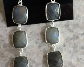 Gorgeous Faceted Labradorite Earrings