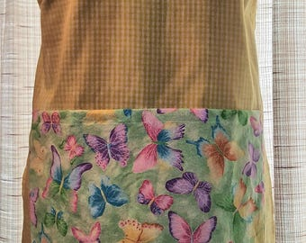 Apron - Butterflies on Yellow Gingham