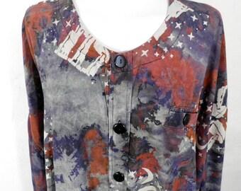 Vintage Dolman Shirt  Plus Size