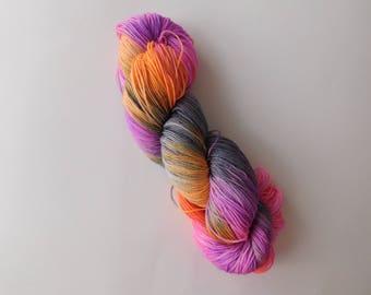 Breakthrough 1 hand dyed sock yarn/wool