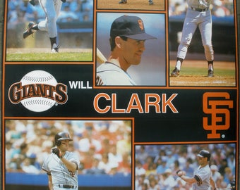 "Will Clark San Francisco Giants Collage  Giant Poster 42"" X 58"""