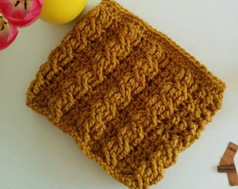 Cable Crocheted Cowl