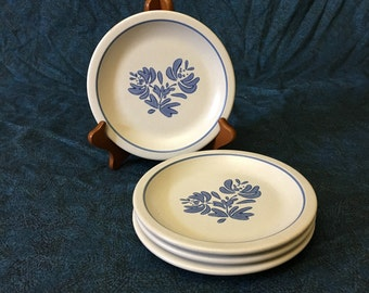 Vintage Pfaltzgraff Yorktowne Salad Plates, Set of 4