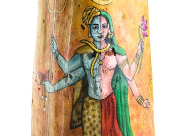 "Roof Tile ""The Androgynous - Shiva and Parvati"""