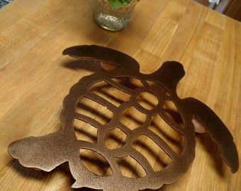 Sea-turtle hotplate trivet