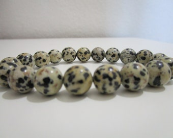 Dalmatian jasper bracelet, Natural stone bracelet, Womens jewelry, Womens bracelet, Gift, Gift for women, Jewelry, Bracelet,Mala bracelet