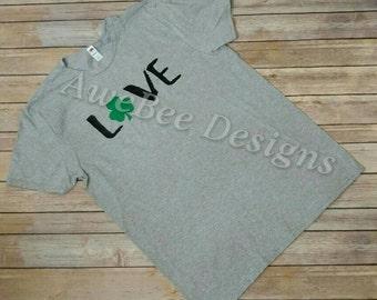 St. Patricks Day Shirt, Love St. Patricks Day, Love Shirt, Saint Patricks Day Shirt