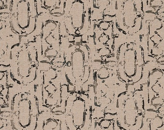 Round Tablecloth Miramar Geometric Granite Black