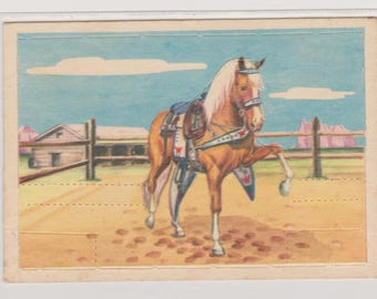 1952 Post Cereal, Roy Rogers Pop Out Card, Trigger, Vintage Trading Card