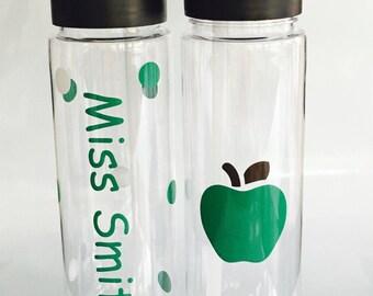 Personalized Teachers Gift, Teacher Appreciation, Teachers Gift, Teacher, Personalized Teacher Water Bottle, Custom Gift