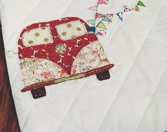 "36""x36"" VW Bus Baby Blanket"