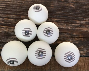 Personalized Set of 6 Ping Pong Balls, Monogram Poker Ping Pong Balls Available in 6 Patterns