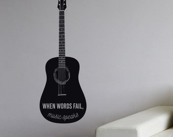 Music Guitar - Vinyl Wall Decal