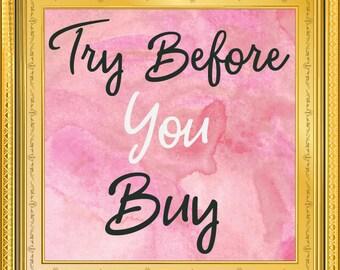 Try Before You Buy, Premade logo, log design